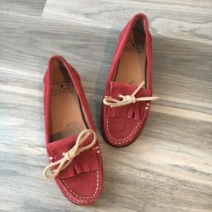 Lucky Brand Penna Venetian Red Suede Loafer 7